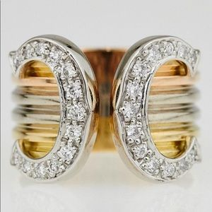 Cartier tricolor gold six ring diamond ring